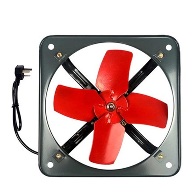 220V Square industrial exhaust fan kitchen exhaust fume fan powerful ventilation blower 14 inch 415*415mm 55W