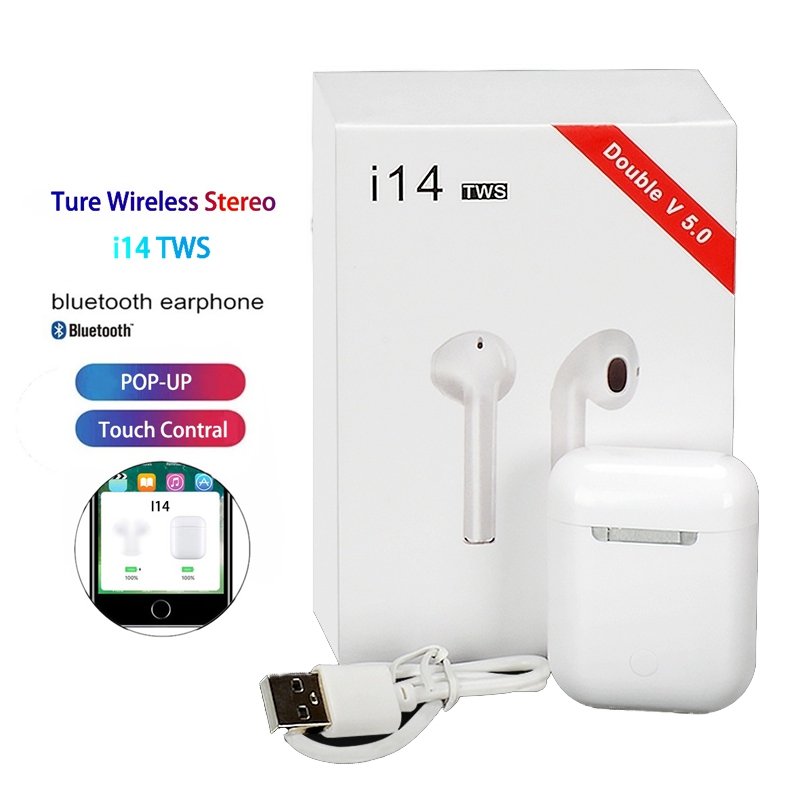 I14 Tws Headset 1:1 Pop-up W1 H1 Wireless Bluetooth 5.0 Earphone Earbuds Touch Control Sport For Iphone Xiaomi Audifonos Elari батарейки заряжаемые от usb