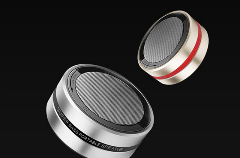 X1 Portable Wireless Bluetooth Speaker Metal Stereo Super Bass Column Small Steel Gun MP3/4 Sound Box Handsfree Mic Aux TF Card