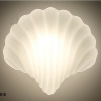 Glas Shell Wandlamp Wit Shell Wandlampen Sconce Creative Light Wall Lampen Armatuur E27 Lamphouder 40W 110V 220V