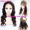 """360 Lace Frontal Pre Plucked Brazilian Virgin Hair 360 degree Lace Frontal Closures Body Wave With Adjustable Strap 22""""x4""""x2"""""""