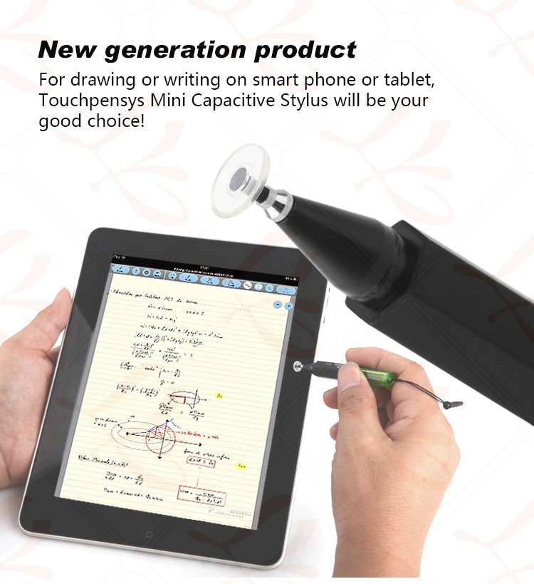 LY Mini Capacitive Stylus,passive stylus,with silicon pad 2.3mm diameter touch tip,similar with apple pencil capatible