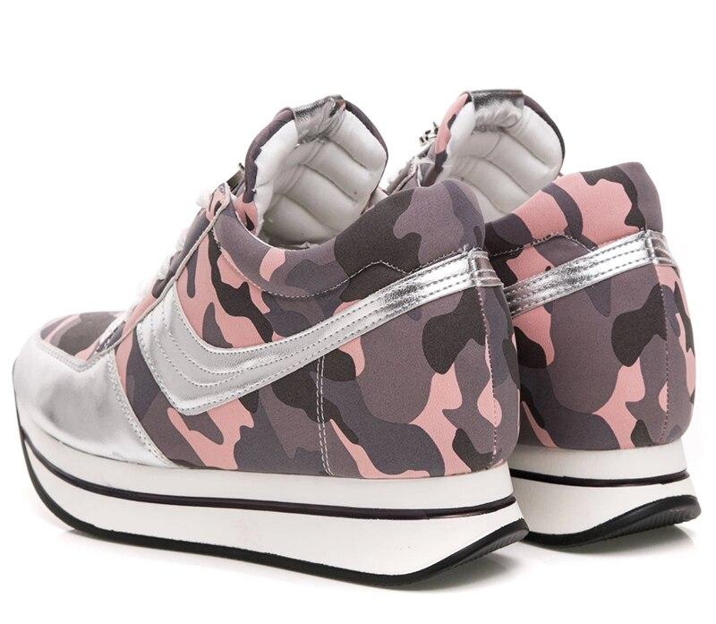 03f53586 Top 2015 moda zapatillas mujer de camuflaje zapatos deportivos plataforma  plataformas tacones muchachas de la universidad dulce pisos zapatos de mujer  en ...