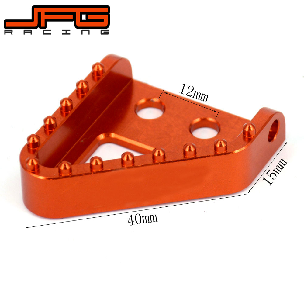 Billet Rear Brake Gerl Shifter Lever Pedal Step Tips For KTM EXC XC SX XC-F SX-F SXF EXCF EXC-F XCF-W EXCF XCW MX ENDURO 125-530 orange billet rear brake pedal step tip for ktm 125 530 690 950 990 sx exc xcf sxf xc xcw excf excw excf duke adventure