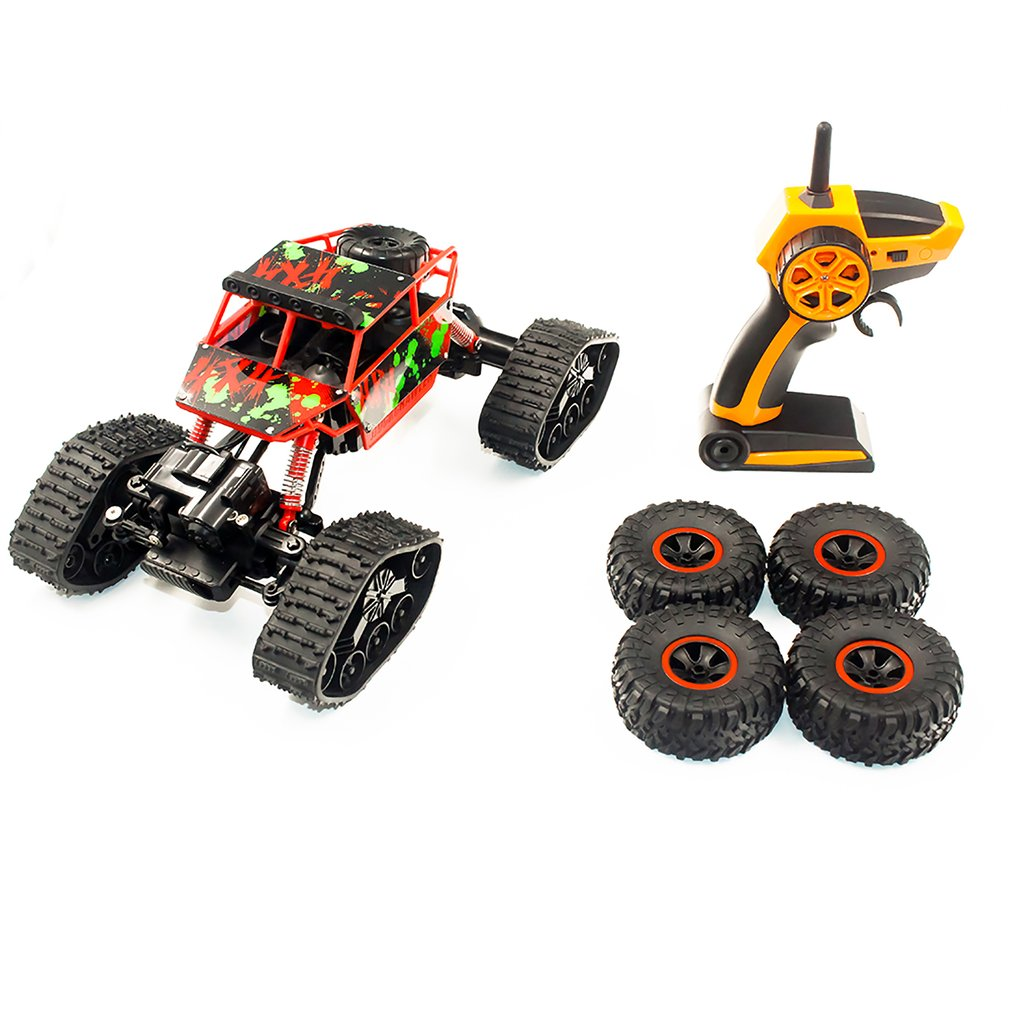 1 To 18 S-001 Electric Four-wheel Drive Snowmobile Wheel Model Crawlers Off Road Vehicle Toy Remote Control Car super climbing remote control car model off road vehicle toy four wheel drive