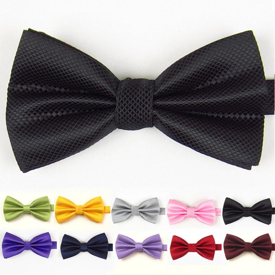 VEEKTIE Father's Day Mens Bowtie Fashion Red Jacquard Plaid Grid  Solid Bow Tie Wedding Tuxedo Cravat Vestidos Black Green Navy