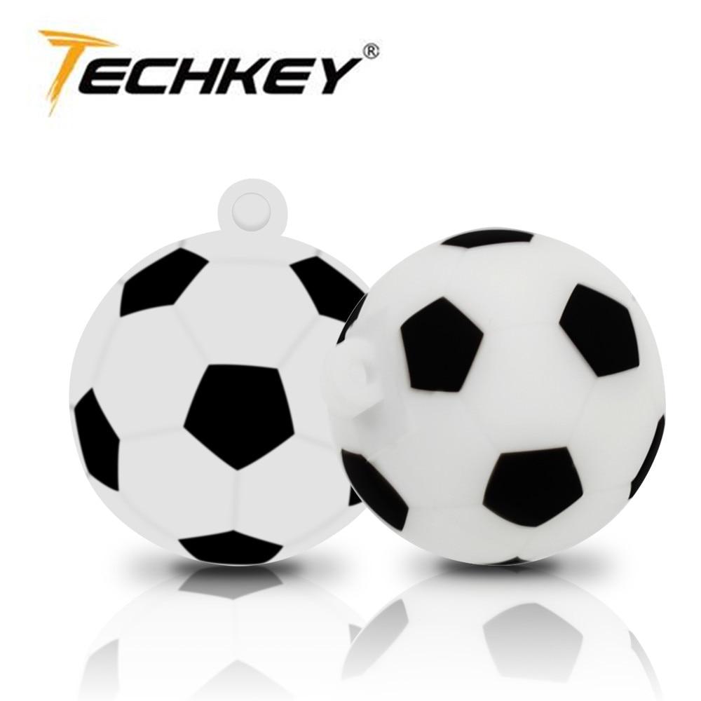 Новый techkey Футбол карту флэш-памяти с интерфейсом USB 64 ГБ Флеш накопитель 32 ГБ памяти memoria Cel usb stick 8 ГБ 16 ГБ мультфильм Футбол модель USB 2.0 подар...