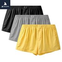 XSHARK 3pc/lot Men Oversized Sleep Bottoms Solid Boxer Men's Pajama Pants Large Arrow Pants At Home Underwear Hombre