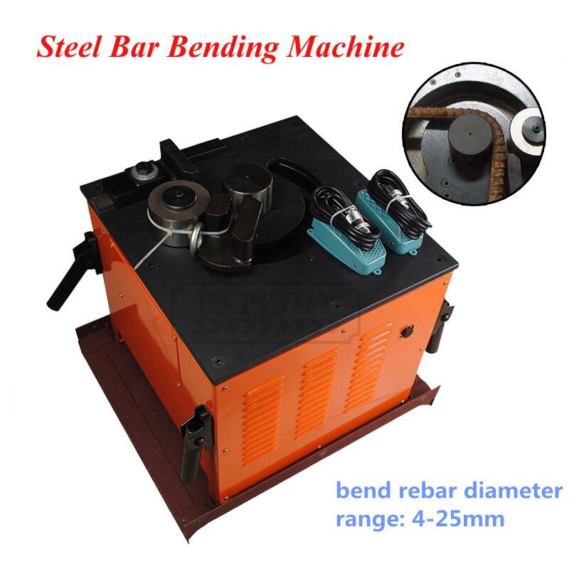 US $2039 15 15% OFF|Automatic Steel Bending Machine Electric Hydraulic  Steel bar Bender Pipe Bending Tool concrete bar bending machine EXPRB 25-in