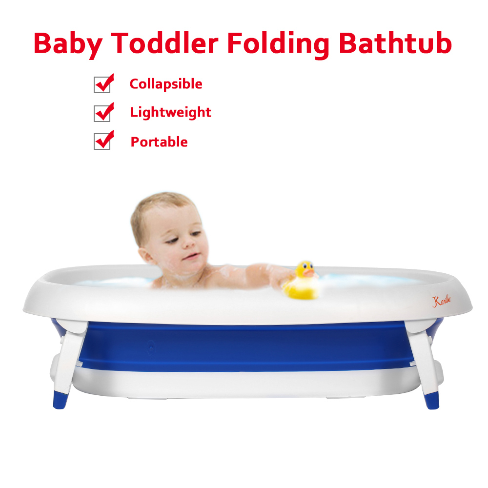 Baby Toddler Folding Bathtub Thickened with Sponge Lightweight ...
