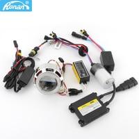 RONAN 2.0''Car Motorcycle Double CCFL Angel Eyes BiXe non HID Projector Lens full kit for H4 H7 car Headlight fog light Retrofit