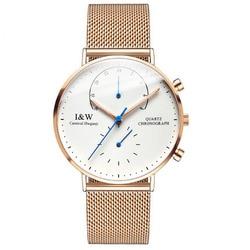 Carnival IW Serier 8787-5G водонепроницаемые 30 m Ультратонкий чехол деловые мужские кварцевые часы наручные часы