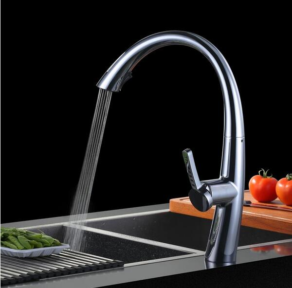 2016 kitchen faucet pull out torneira cozinha kitchen sink faucet mixer kitchen faucets pull out kitchen tap newly arrived pull out kitchen faucet brushed nickel sink mixer tap 360 degree rotation torneira cozinha mixer taps gyd 7117