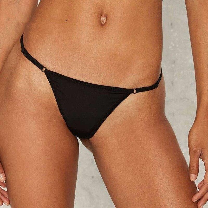 2020 Women Sexy T-back Cheeky Bikini Bottoms  Secret Swimsuit Vintage Swimwear Brazilian Biquini Womens Thong Bikinis Bottom