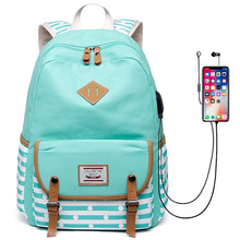 Nouvelles femmes sac à dos USB charge sacs à dos sacs décole pour adolescents filles sac à dos pour ordinateur portable mochila feminina étudiants cartable