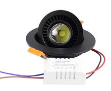 7W/10W/15W/20W led COB light Round indoor lighting recessed in ceiling warm white/white/Nature white Free Shipping