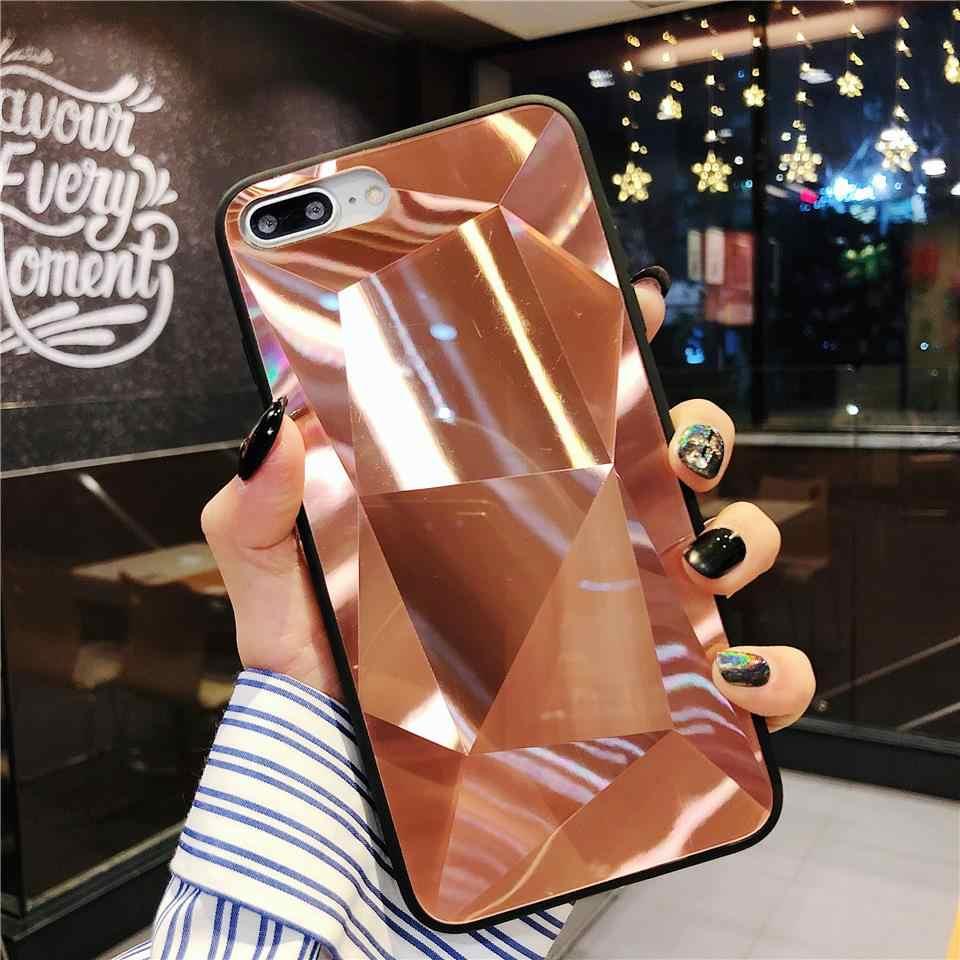 3D Bling TPU + PC Case untuk iPhone 6 6 S 7 7 Plus XR X Max Samsung A10 A20 a30 A50 A70 M10 M20 M30 Cover Berlian Casing