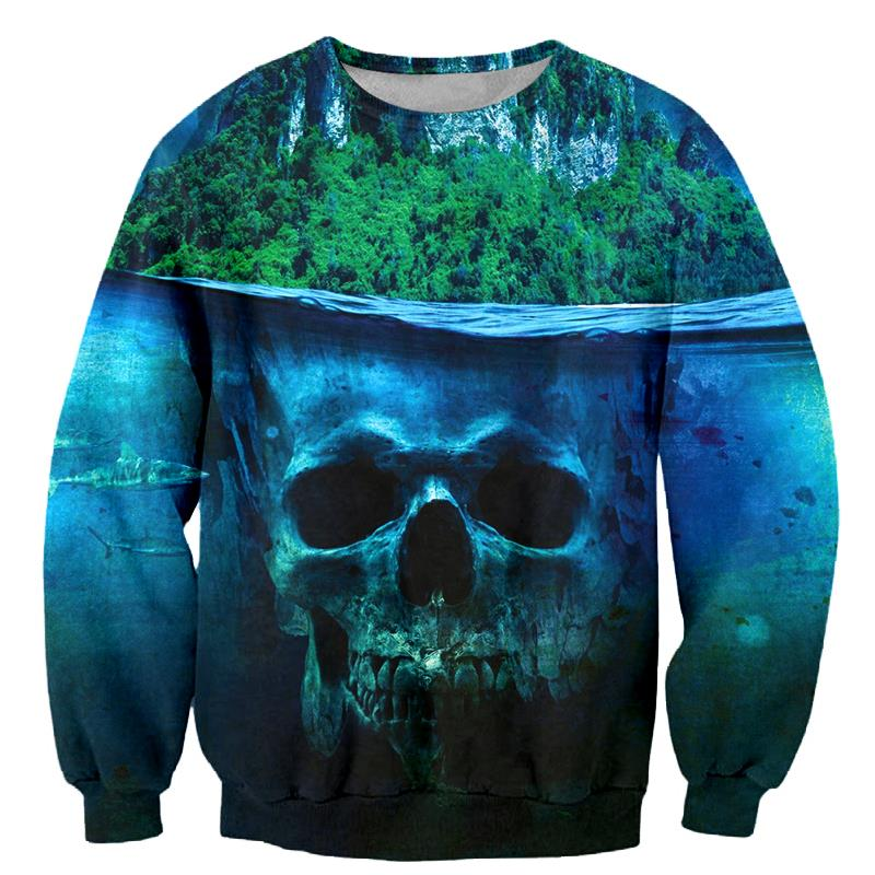 2018 FASHION MEN WOMEN Funny Skeleton Green plant Sweat shirts Pullovers Autumn Tracksuit Streetwear Winter Loose Thin Hoody Top