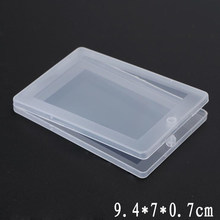 1 PC portable Small Thin Plastic Transparent With Lid Collection Container Case Storage Box for Card, bank card, paper towel(China)