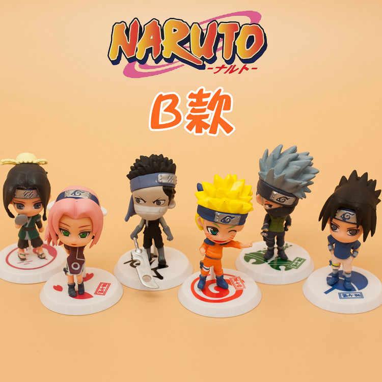 1 шт. случайный Аниме фигурки Наруто игрушки 12 видов стилей Забуза Хаку Какаси из аниме «Как у героя мультфильма Саскэ Наруто Сакура коллекция моделей pvc детские игрушки