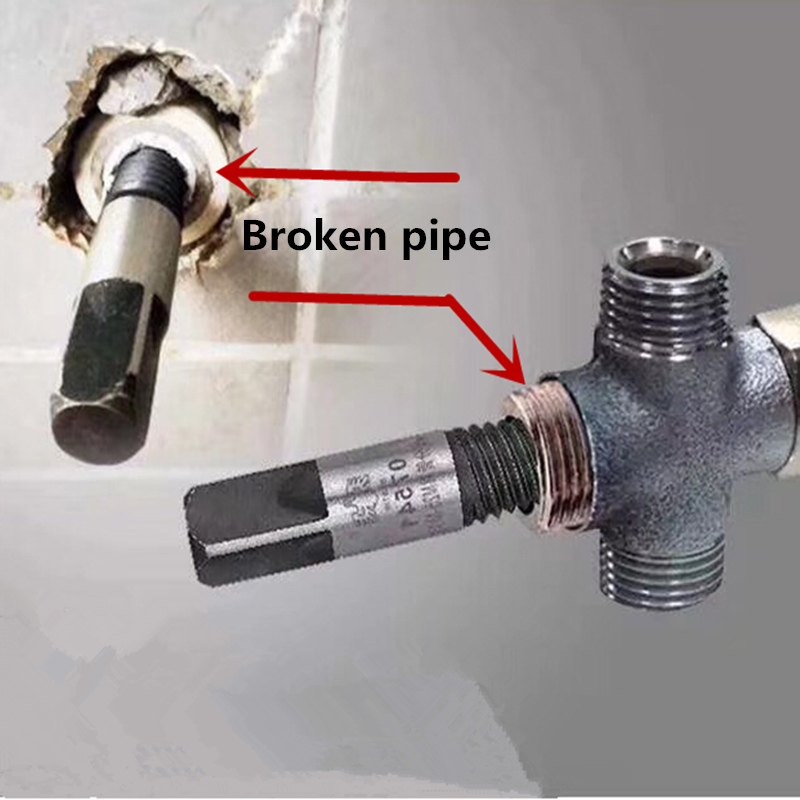 Plumber Tool Water Pipe Repair Hand Reamer Set Faucet Broken Pipe Extractor Triangle Valve Broken Pipe Broken Wire Extractor