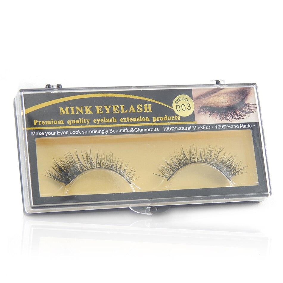 1 Pair Handmade Natural Long Mink False Eyelashes Messy Winged Eyelash for Beauty Makeup EM003