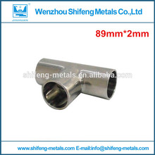 3 1/2 inch or 89 mm diameter 316 stainless Pipe Connection Fittings tee(China)