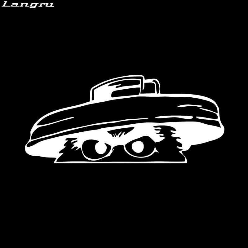 Langru Si Penggerutu Stiker Lucu Mobil Styling Menurunkan Mobil Truk Jendela Drift Vinyl Decal Seni Bentuk JDM