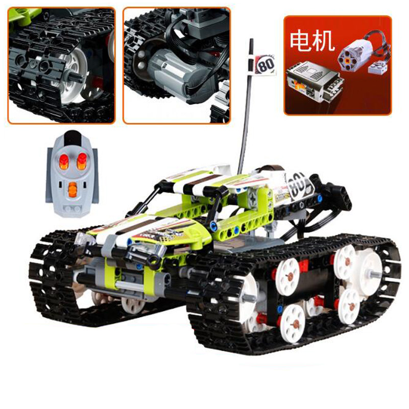 20033 RC Track Car Model Bricks Toys 397pcs Electric Car Gifts For Children Compatible Lepin Technic Series Building Blocks Set lepin 02064 404pcs city series jungle semi track car model building blocks bricks toys for children action figures