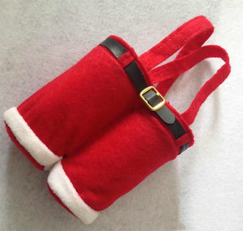 Tas Celana Santa Xmas Dekorasi Pernikahan Permen/Buckram Wine-Tas Natal Baru