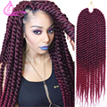 "Best Quality Crochet Hair Extensions Havana Mambo Twist 18"" 12roots 85g/pack Ombre Kanekalon Braiding Hair Crochet Braids Hair"