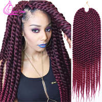 Best quality crochet hair extensions havana mambo twist 18 12roots 85g pack ombre kanekalon braiding hair.jpg 200x200