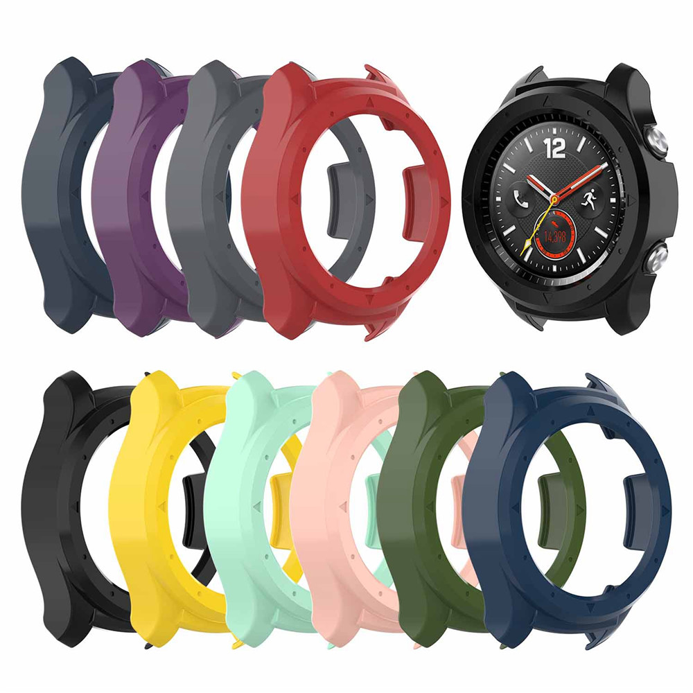Protective Case Cover For Huawei <font><b>Watch</b></font> 2 Smartwatch <font><b>Bracelet</b></font> Case Dial Case Anti-scratch Shockproof Shell <font><b>Unisex</b></font> image