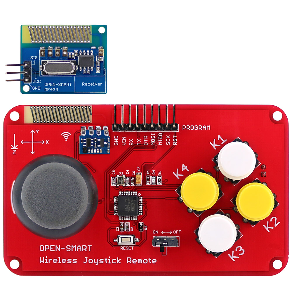 Image 1 - PS2 Joystick Keypad RF 433MHz Wireless Joystick Game Remote Controller Module Transceiver Kit for Smart Car / 4 axis Aircraft-in Industrial Computer & Accessories from Computer & Office