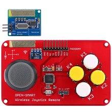 PS2 Joystick klawiatura RF 433MHz Joystick bezprzewodowy kontroler do gier moduł nadawczo odbiorczy zestaw dla inteligentnego samochodu/4 osi samolotu