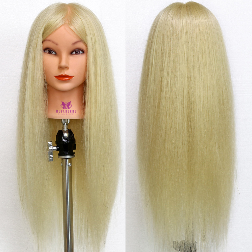 26quot; 613 80% Real Animal Hair Hairdressing Mannequin head