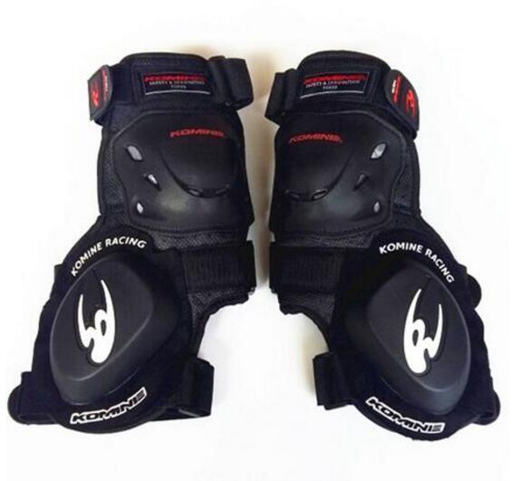 2018 KOMINE motorcycle protective slider shockproof gear road racing knee folding professional motocross Men Unisex beekeepers