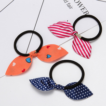 10Pcs Elastic Hair Bands Polka Dot Cute Bow Rabbit Ears Rubber Rope Girls Scrunchy Accessory for Tie