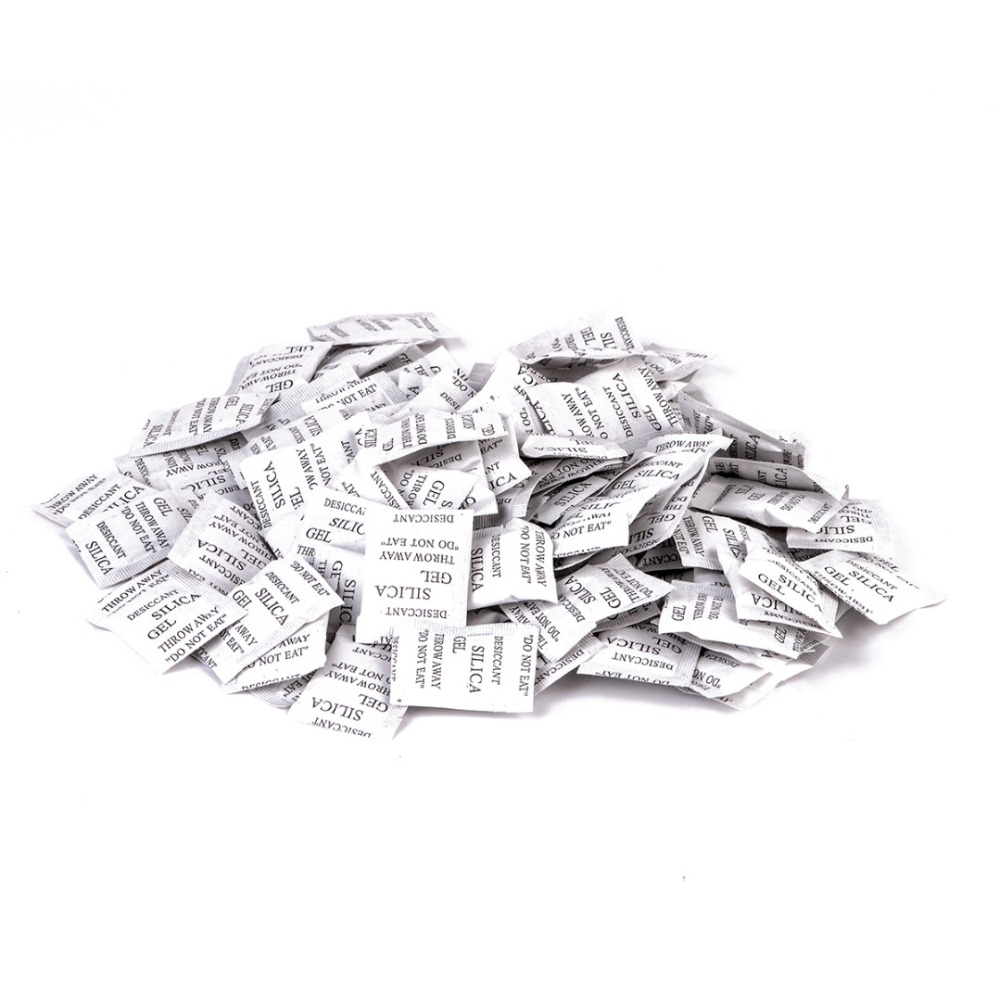 100 csomag 1 g nem mérgező szilikagél deszikkáló konyhai szoba nappali nedvesség nedvességtartály nedvesítő otthoni kiegészítők számára
