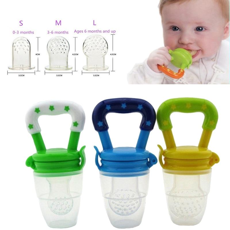 Momy And Angel Safe Baby Bottles Size S-M-L 4 Colors Nipple Fresh Food Milk Nibbler Feeder Feeding Tool For Children 's Day Gift