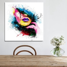 Color Rose Flowers with Girl Beautiful Home Decoration Canvas Painting Wall Art Multicolor Unframed Living Room Decor Wholesale