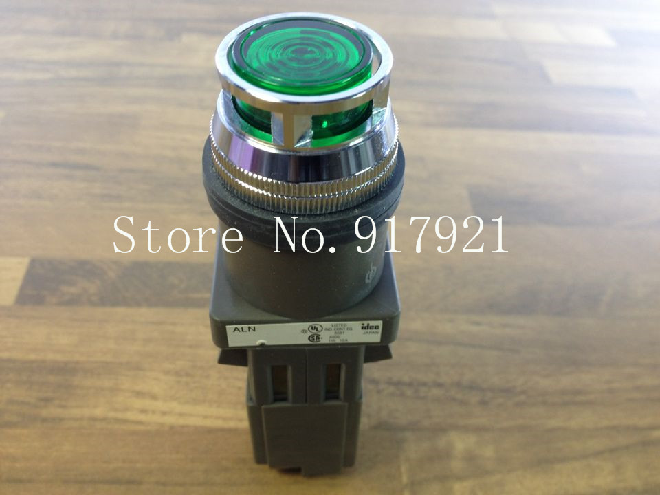 [ZOB] Japan's IDEC and ALN 110VAC with light button with lamp button 30MM NO NC original  --2PCS/LOT