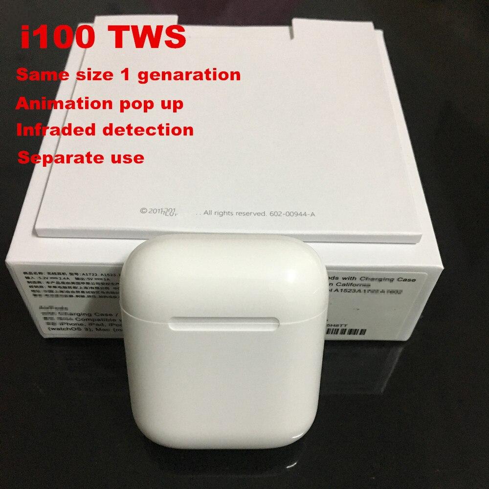 I100 TWS Animation connexion utilisation séparée écouteurs Bluetooth sans fil écouteurs Pop up PK i77 i200 tws W1 puce i20 livraison directe
