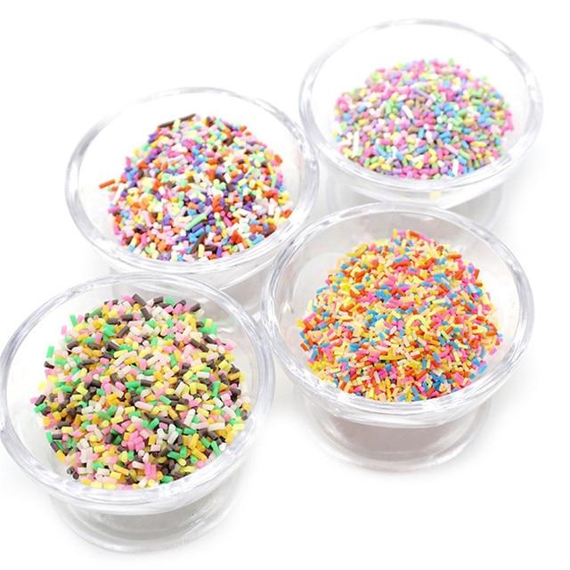 MUQGEW Modeling Clay/Slime Colorful Styrofoam Sugar Sprinkles Decorative Slime DIY Craft For Crunchy Slime
