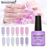 네일 아트 디자인 매니큐어 세트 핑크 퍼플 네일 젤 폴란드어 오프 에나멜 젤 폴란드어 LED UV 젤 네일 폴란드어 옻칠 광택 12