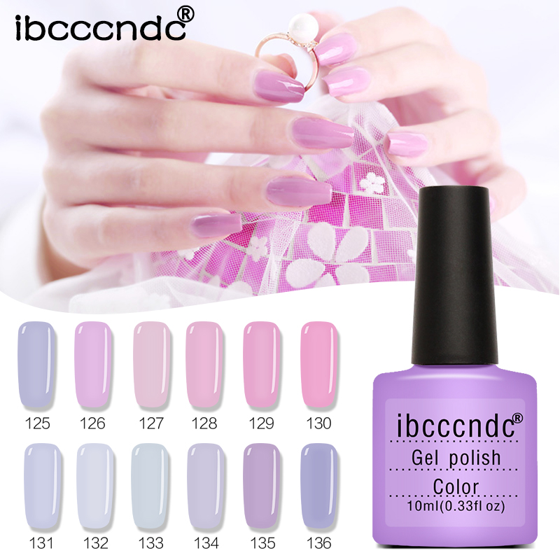 Nail Art Design Manicure Set Pink Purple Nail Gel Polish Soak Off Enamel Gel Polish LED UV Gel Nail Polish Lacquer Varnish 12pcs