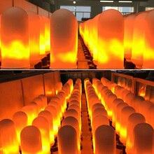 CANMEIJIA E27 LED Flame Effect Light Bulb 7W Flickering Emulation Fire Lights Lamps 110V 220V Decorative Lamp