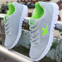 2017 Fashion Men Shoes Summer Breathable Lace Up Mesh Casual Shoes Light Comfort Sport Outdoor Men