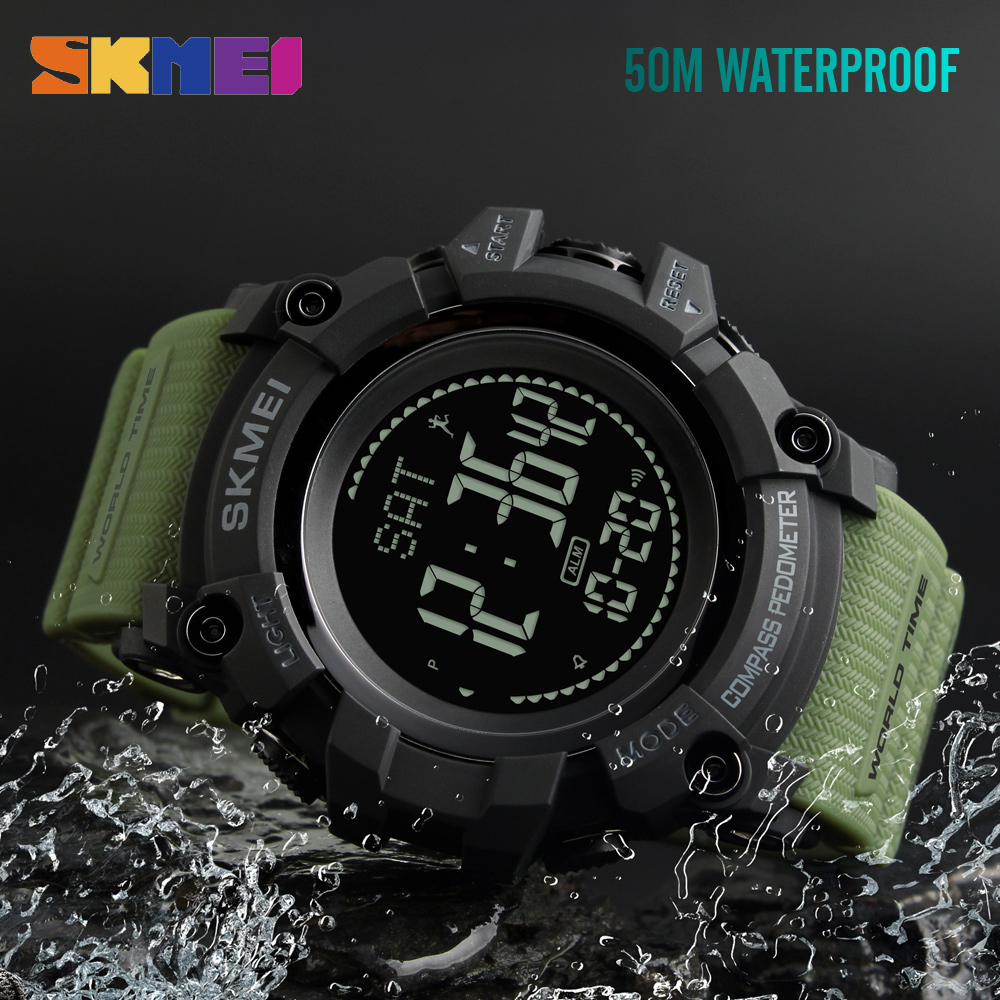 Men's Watches Skmei Distance Calorie Watch Men Outdoor Digital Led Men Sport Alarm Pedometer Waterproof Calendar Wristwatch Relogio Masculino
