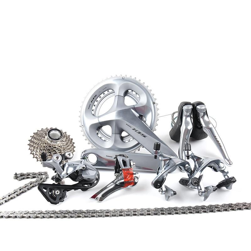 Shimano 105 R7000 2x11 22 vitesses 50x34 T 53x39 T 170mm 172.5mm groupe vélo de route dérailleur Kit argent